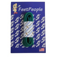 FeetPeople Leather Shoe/Boot Laces, Green