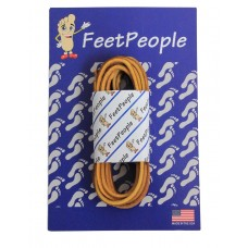 FeetPeople Leather Shoe/Boot Laces, Indian Tan