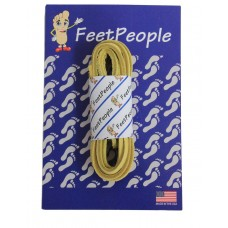 FeetPeople Leather Shoe/Boot Laces, Light Gold