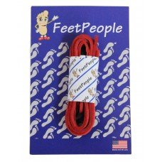 FeetPeople Leather Shoe/Boot Laces, Red