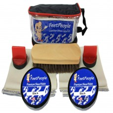 FeetPeople Premium Leather Care Kit with Travel Bag, Black