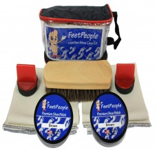 FeetPeople Premium Leather Care Kit with Travel Bag, Brown
