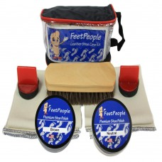 FeetPeople Premium Leather Care Kit with Travel Bag, Neutral & Brown