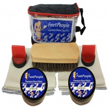 FeetPeople Premium Leather Care Kit with Travel Bag, Cordovan