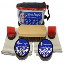 FeetPeople Premium Leather Care Kit with Travel Bag, Navy