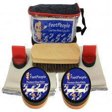 FeetPeople Premium Leather Care Kit with Travel Bag, Tan