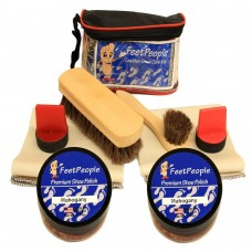 FeetPeople Ultimate Leather Care Kit with Travel Bag, Mahogany