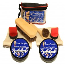 FeetPeople Ultimate Leather Care Kit with Travel Bag, Midnight Green