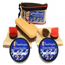 FeetPeople Ultimate Leather Care Kit with Travel Bag, Neutral