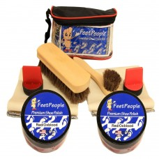 FeetPeople Ultimate Leather Care Kit with Travel Bag, Red/Oxblood
