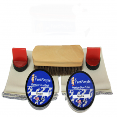 FeetPeople Premium Leather Care Refill Kit, Neutral & Brown