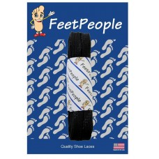 FeetPeople Strong Flat Laces, Black Reinforced w/ Black Kevlar