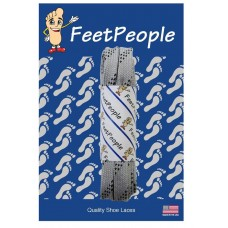 FeetPeople Strong Flat Laces, Gray Reinforced w/ Black Kevlar