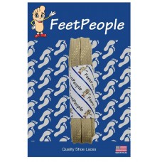 FeetPeople Strong Flat Laces, Tan Reinforced w/ Natural Kevlar