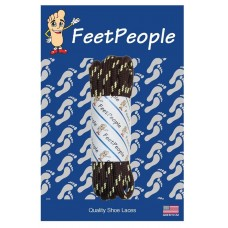FeetPeople Strong Round Laces, Brown Reinforced w/ Natural Kevlar