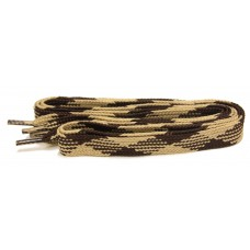 FootGalaxy High Quality Fat Laces For Boots And Shoes, Tan-Brown-Argyle