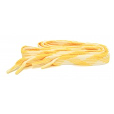FootGalaxy High Quality Fat Laces For Boots And Shoes, Yellow-White-Argyle