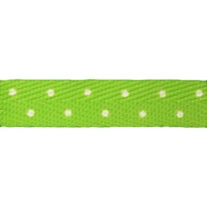 FootGalaxy Green with White Dot Printed Shoe Laces