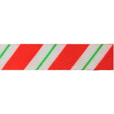 """FootGalaxy 45"""" Christmas Candy Stripe Printed Shoe Laces"""