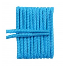 FootGalaxy High Quality Round Laces For Boots And Shoes, Carolina Blue