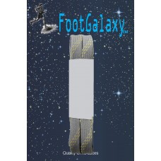FootGalaxy Strong Flat Laces, Gray Reinforced w/ Natural Kevlar