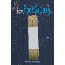 FootGalaxy Strong Flat Laces, Tan Reinforced w/ Natural Kevlar