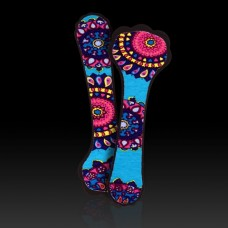 Foot Petals Killer Kushionz (Black with Paisley)
