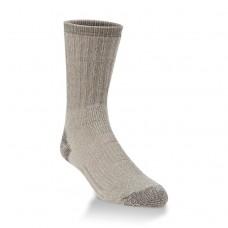Hiwassee Heavy Outdoor Crew Socks 1 Pair, Light Brown, Large