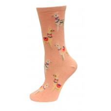 HotSox Alpacas Socks, Pink Heather, 1 Pair, Women Shoe 4-10