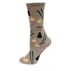 HotSox Dumplings Socks, Grey Heather, 1 Pair, Women Shoe 4-10