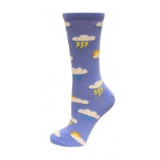 HotSox Fuzzy Clouds Socks, Periwinkle, 1 Pair, Women Shoe 4-10