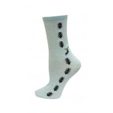 HotSox Ants Socks, Mint Melange, 1 Pair, Women Shoe 4-10