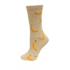 HotSox Banana Socks, Natural Melange, 1 Pair, Women Shoe 4-10