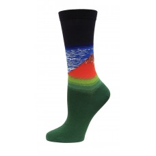 HotSox Fuji Mountains Socks, Navy, 1 Pair, Women Shoe 4-10