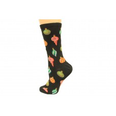 Hot Socks Ornaments Women's Socks 1 Pair, Black, Women's Shoe Size 9-11