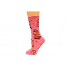 Hot Socks Lovebirds Women's Socks 1 Pair, Light Pink, Women's Shoe Size 9-11