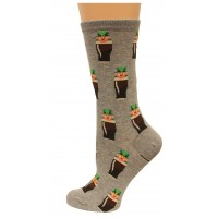 HotSox Womens Leprechauns Socks, Sweatshirt Grey Heather, 1 Pair, Womens Shoe 4-10