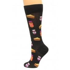 Hot Socks Peanut Butter and Jelly Men's Socks 1 Pair, Black, Men's Shoe Size: 10-13
