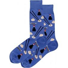 HotSox Dumplings Socks, Blue, 1 Pair, Men Shoe 6-12.5
