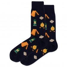 HotSox Camping Socks, Navy, 1 Pair, Men Shoe 6-12.5