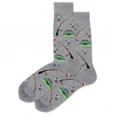 HotSox Fishing Socks, Grey Heather, 1 Pair, Men Shoe 6-12.5