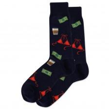 HotSox Bachelor Party Socks, Navy, 1 Pair, Men Shoe 6-12.5