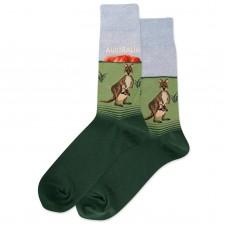 HotSox Australia Socks, Blue Heather, 1 Pair, Men Shoe 6-12.5