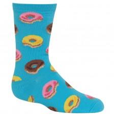HotSox Donuts Kids Socks, Aqua, 1 Pair, Small/Medium