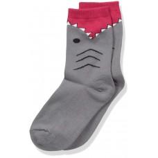 K. Bell Boy's Shark, Charcoal, Sock Size 7.5-9/Shoe Size 11-4, 1 Pair