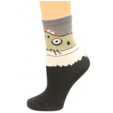 K. Bell Boy's Zombie, Black, Sock Size 7.5-9/Shoe Size 11-4, 1 Pair