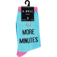 K. Bell 5 More Minutes Crew Socks, Turquoise, Sock Size 9-11/Shoe Size 4-10, 1 Pair