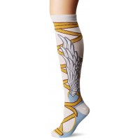 K. Bell Winged Sandals Knee High Socks, White, Sock Size 9-11/Shoe Size 4-10, 1 Pair