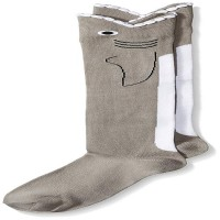 K. Bell Wide Mouth Shark Knee High Socks, Gray, Sock Size 9-11/Shoe Size 4-10, 1 Pair