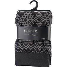 K. Bell Aztec Print Fleece Leggings - M/L, Black, Size M/L, 1 Pair